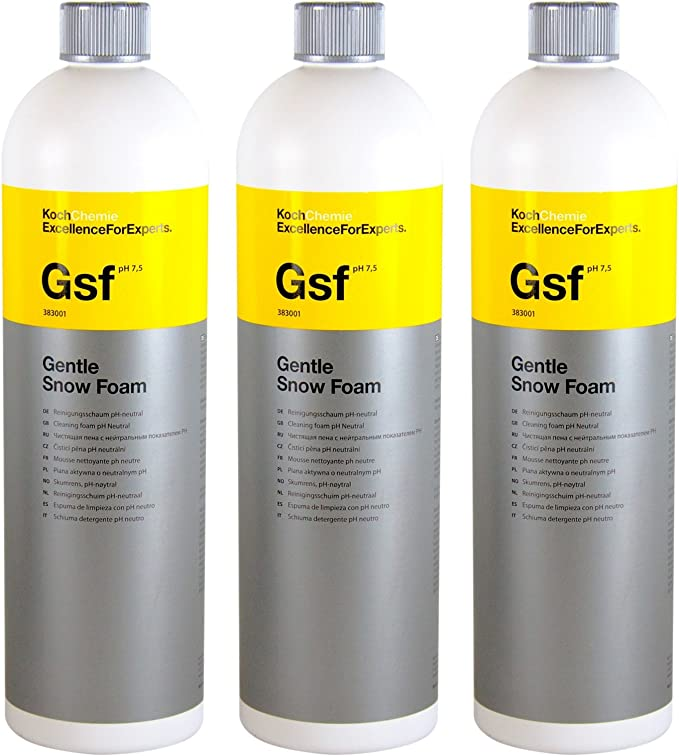 Koch Chemie 3x Gsf Gentle Snow Foam Reinigungsschaum Ph Neutral 1 L Liter Auto