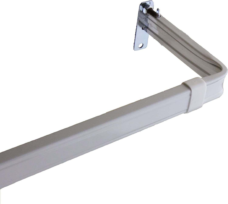 28 To 48-Inch Rod Desyne Lockseam 2-Inch Clearance Window Curtain Rod