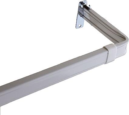 2 Clearance Single Lockseam Curtain Rod 18-28 inch