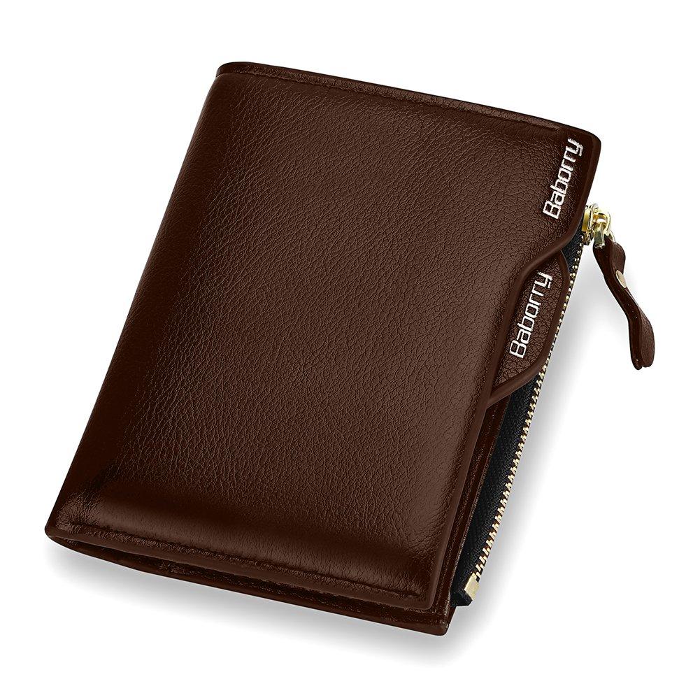 Expresstech @ RFID Cartera Anti-robo Cartera de cuero de la PU con soporte de tarjeta extraíble para Tarjeta de Crédito Carnet ID y Dinero, ...
