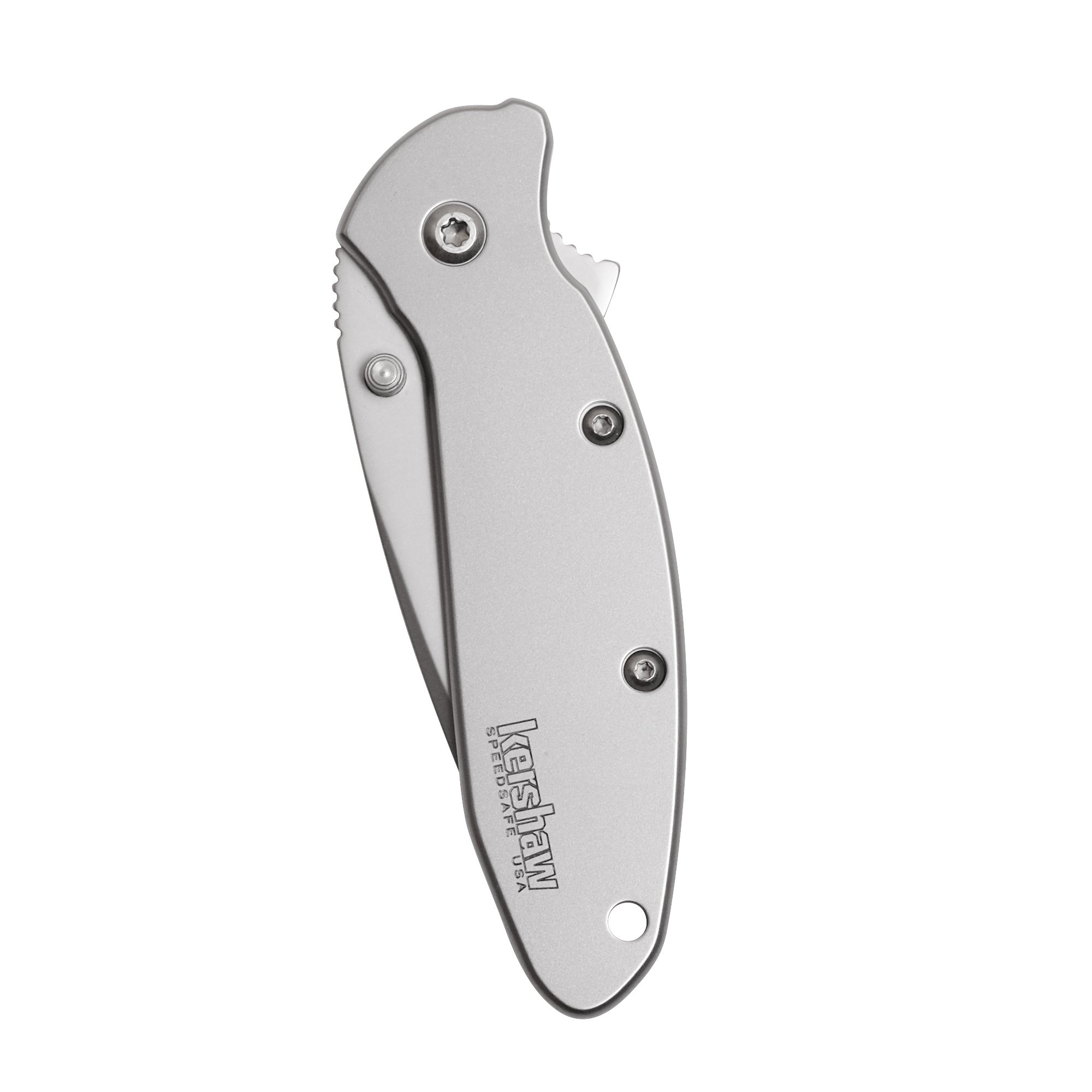 """Kershaw Scallion Pocket Knife (1620FL); 2.4"""" 420HC Stainless Steel Blade and 410 Steel Handle, Featuring SpeedSafe Assisted Opening, Flipper, Lanyard Hole, Secure Frame Lock and Tip Lock; 2.9 OZ. by Kershaw (Image #5)"""