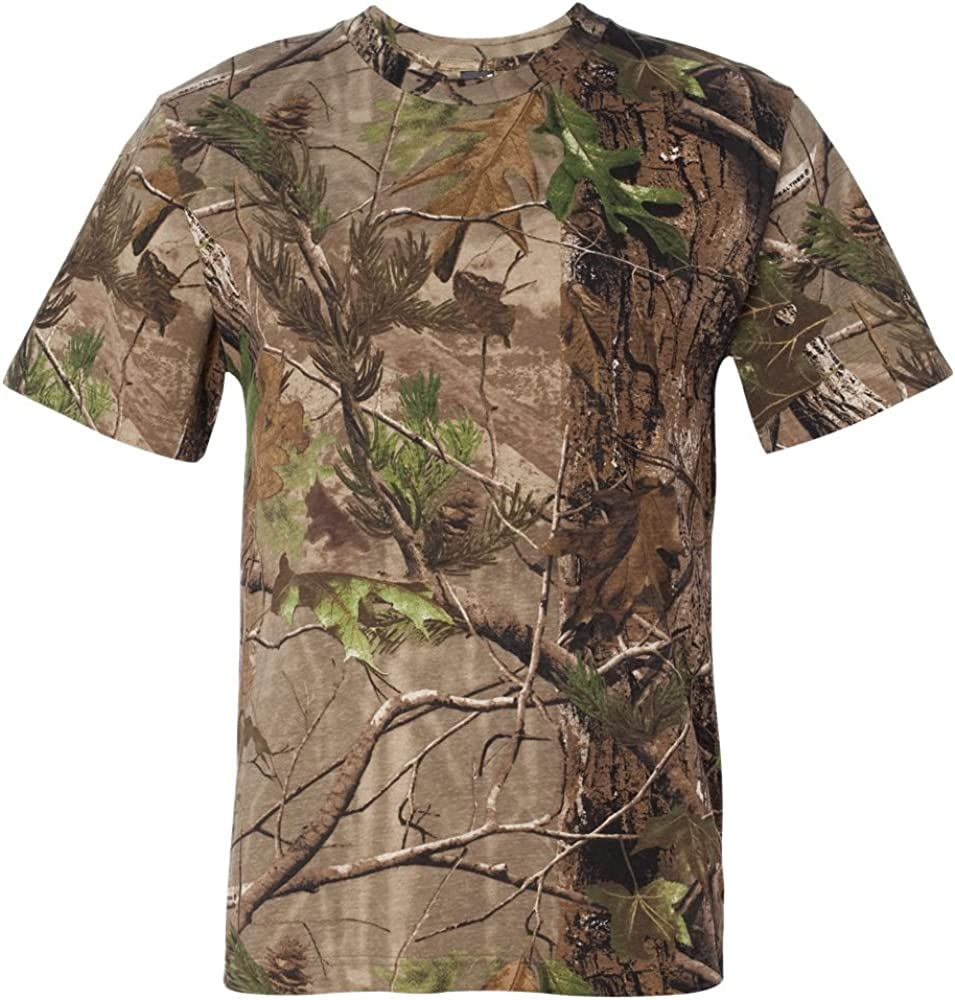 Code Five Mens Adult Realtree Camo Tee T Shirt Short Sleeve 3980 up to 4XL