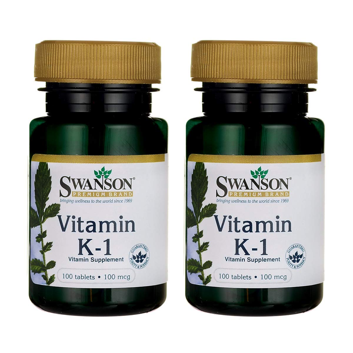 Swanson Vitamin K-1 100 mcg 100 Tabs (2 Pack)