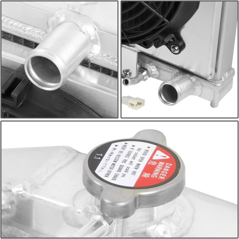 DNA Motoring RA-HC92-60-AT-3 3-Row Full Aluminum Racing Radiator Fit 92-00 Civic Del Sol Integra
