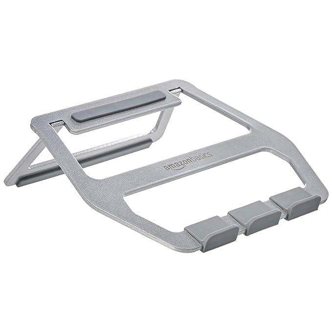 AmazonBasics - Soporte plegable de aluminio para ordenador portátil de hasta 15