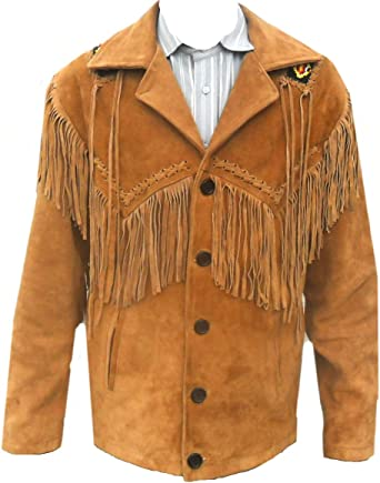 Classyak Western Leather Jacket 5XL A Grade Suede Leather Xs