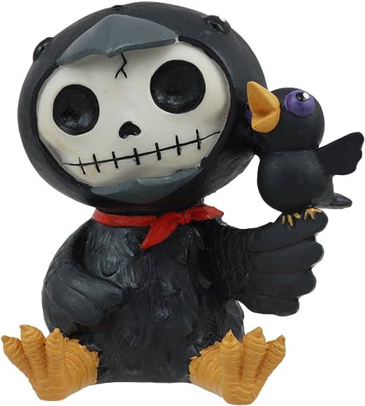 Grey and Black Colored 3 Inch Furrybone Bandit The Raccoon Figurine