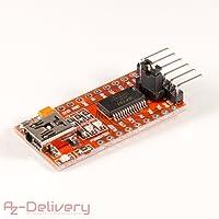 AZDelivery FT232RL FTDI USB a TTL modulo adattatore convertitore seriale per Arduino 3,3 V 5,5 V per Arduino Pro Mini te203