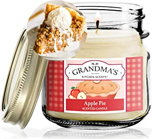 Apple Pie Scented Candles for Home | Non Toxic Long Lasting Soy Candles | Delicious Scent | 8 oz Mason Jar | Hand Made in The USA