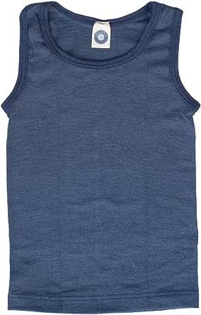 Cosilana - Camiseta de tirantes para niños, 70% lana y 30% seda
