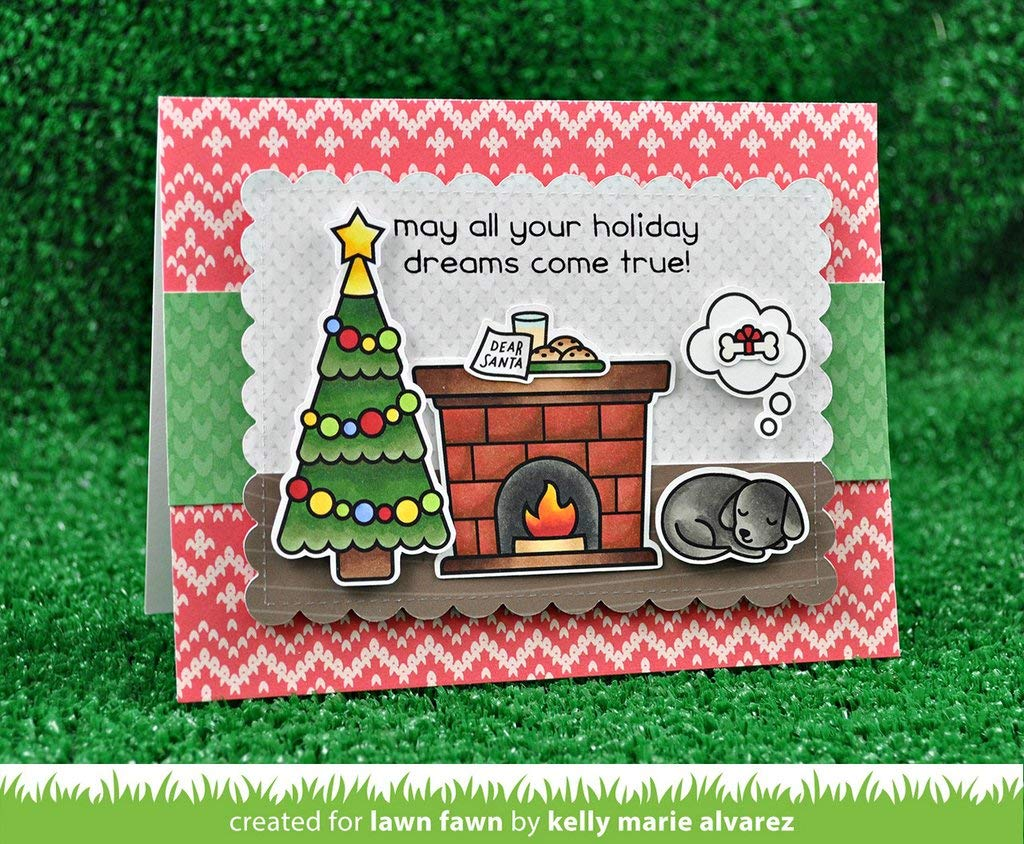 Lawn Fawn Clear Stamp and Die Set - Christmas Dreams - Two Item Bundle by Lawn Fawn