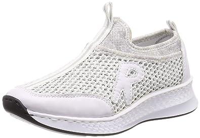 attraktiver Stil auf Füßen Aufnahmen von neuartiges Design Rieker Damen N5654-81 Slip On Sneaker