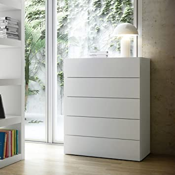Aprodz Warsaw Chest Of 5 Drawers (White Finish)