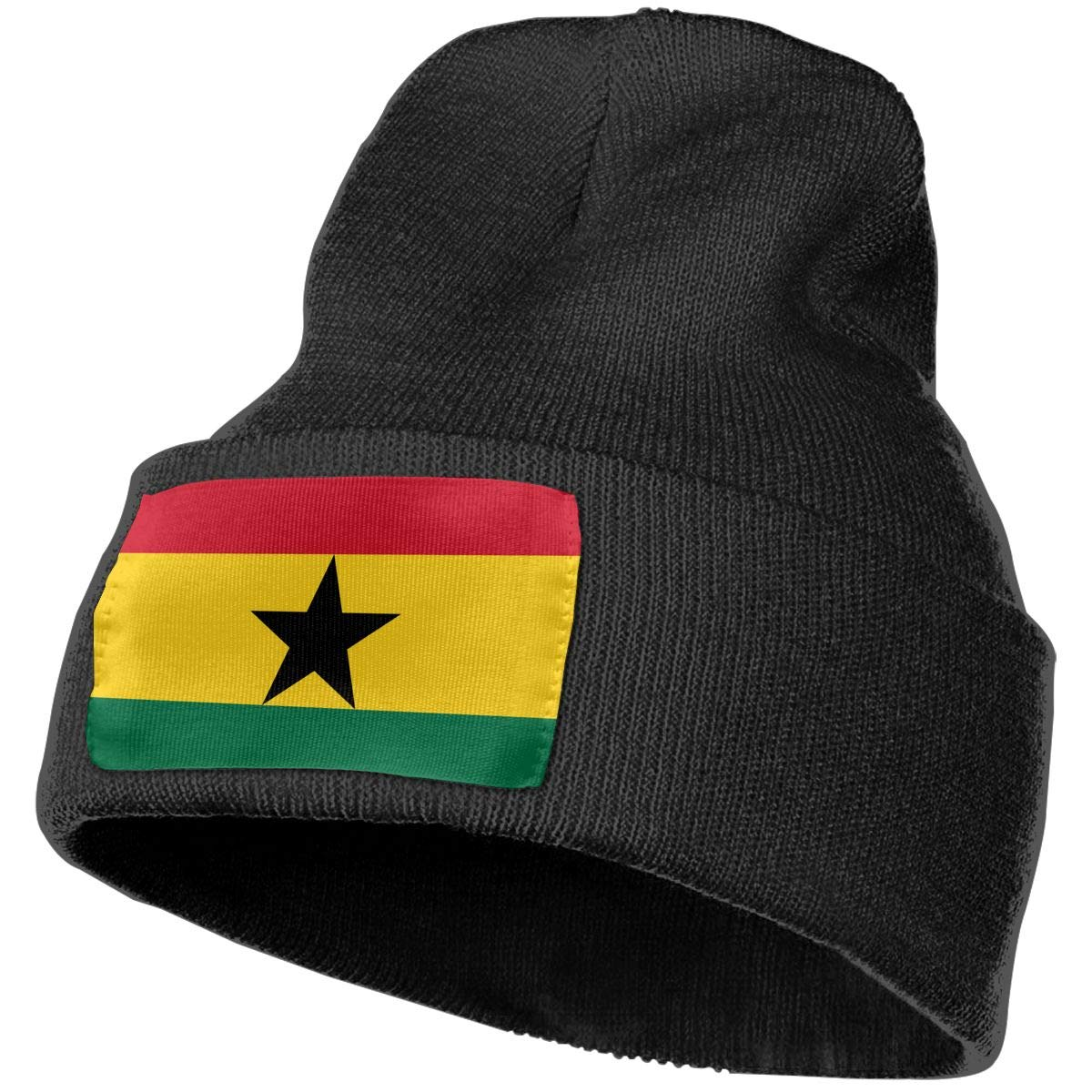 TAOMAP89 Ghana Flag Women and Men Skull Caps Winter Warm Stretchy Knitting Beanie Hats