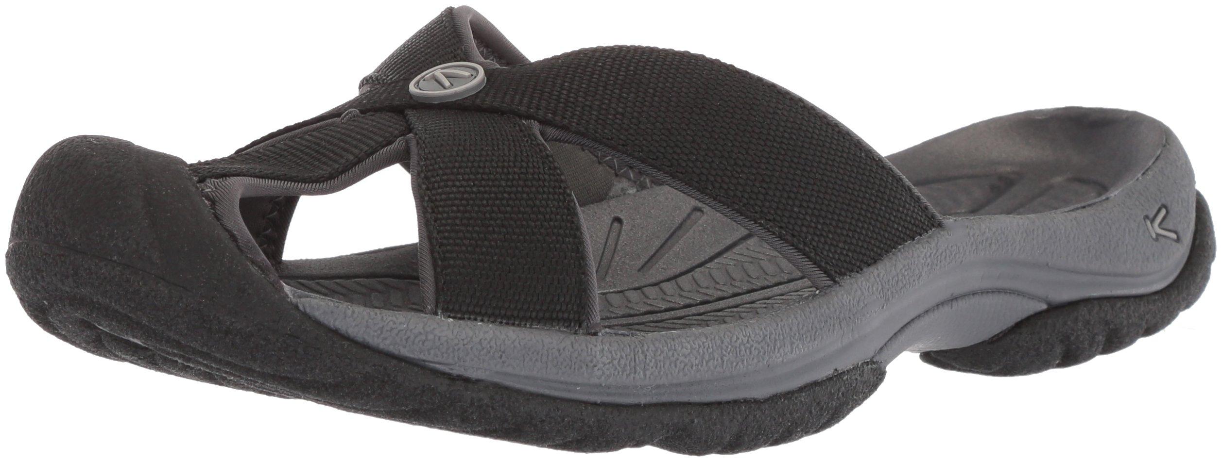 KEEN Women's Bali-W Sandal, Black/Magnet, 7 M US