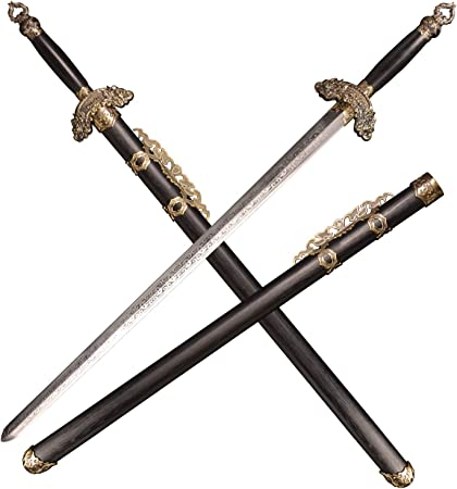 SV Crouching Tiger Hidden Dragon II: The Green Destiny Sword, Green Destiny, Solid Wood Scabbard and Handle, 39 inches, Brocade Box Packaging
