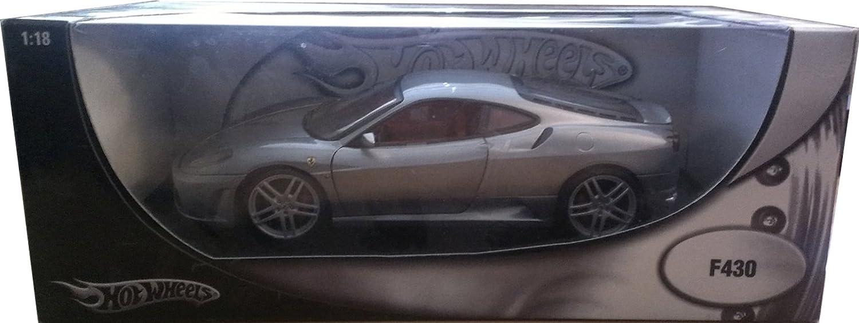 2006 Ferrari F430 Diecast Model denn 1: 18 Scale Diecast by Hot Wheels – Metallic Grau H3069
