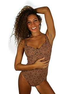 8cad8cc482 Tan Through One Piece Swimsuit With Underwire Support at Amazon Women s  Clothing store