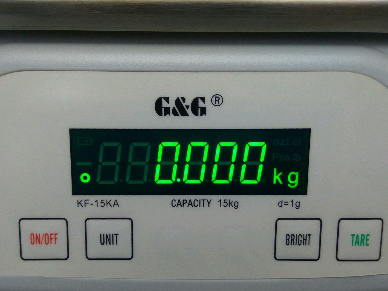 G&G - báscula digital de precisión KF15KA|B, 15 kg - 1g | 0,1g báscula de mesa KF-15KA: Bis 15kg in 1g Schritten: Amazon.es: Oficina y papelería