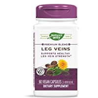 Nature's Way Leg Veins Support Blend; with Tru-OPCSTM; Vegetarian; 60 Vegetarian Capsules (Packaging May Vary)