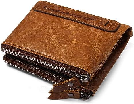 NUOVO Bifold i titolari della carta di credito tasca con zip Foto Finestra In Finta Pelle Borsetta Portafoglio