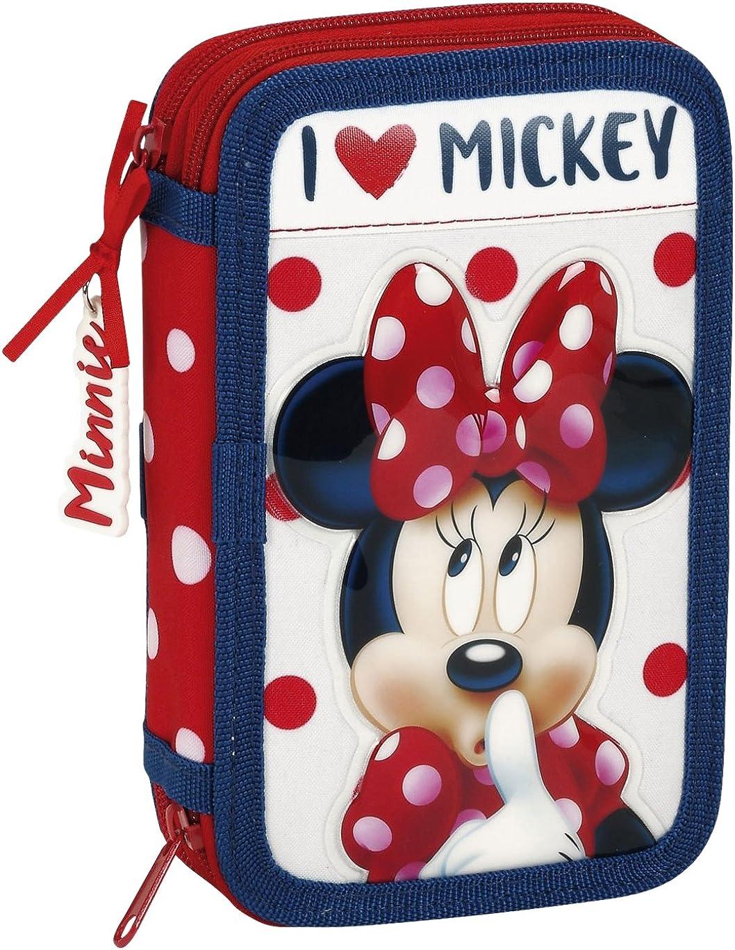 Minnie 411748854 Mouse Estuches, 20 cm, Rojo y Blanco: Amazon.es: Ropa y accesorios