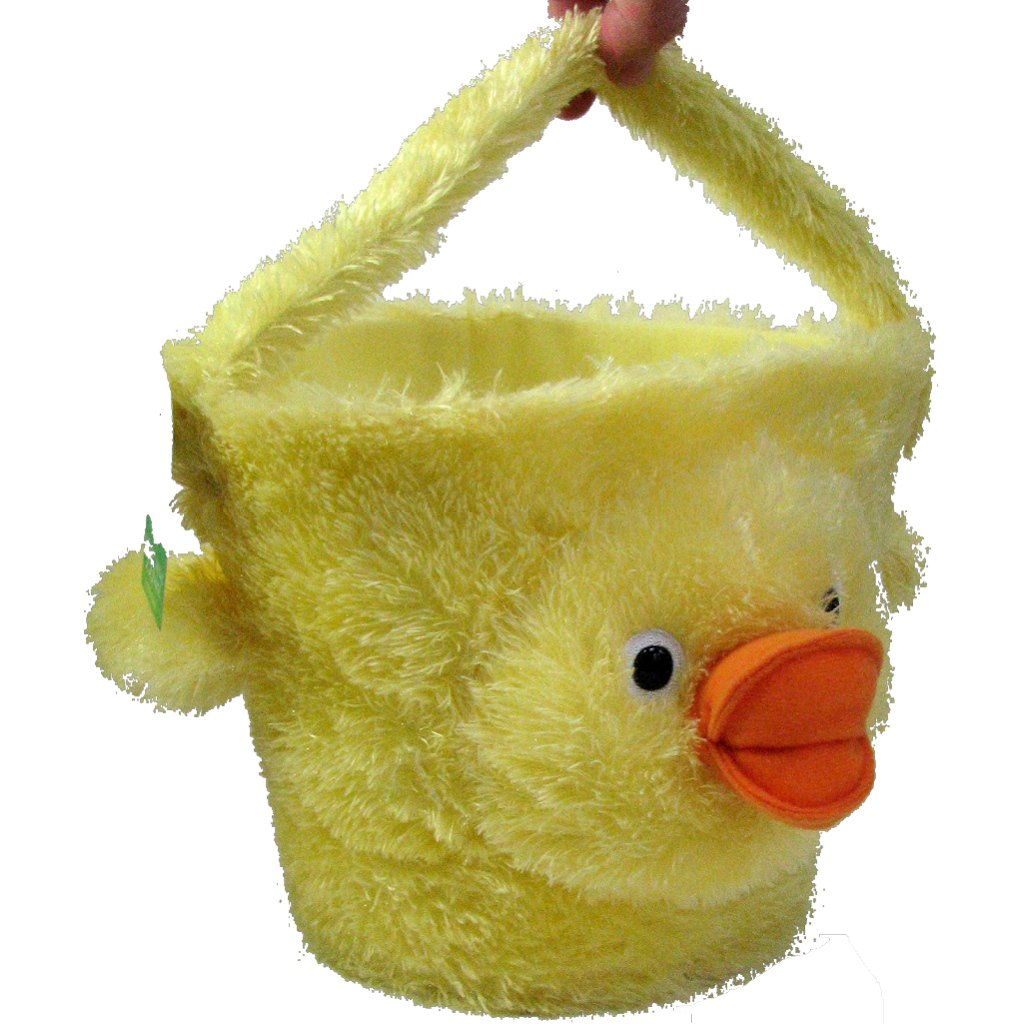 Hallmark Exclusive Plush Easter Basket Too Much Fun Fuzzy Yellow Duck About 7 Tall Without Handle Great Soft Non Breakable For Wrapped