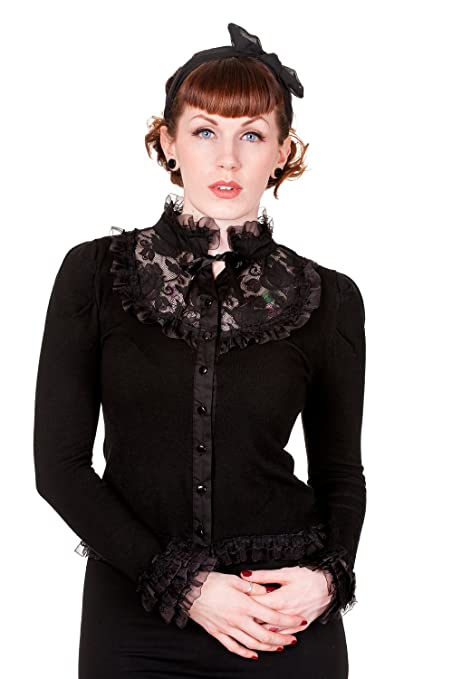 Black Lace Rose Cardigan $38.95 AT vintagedancer.com
