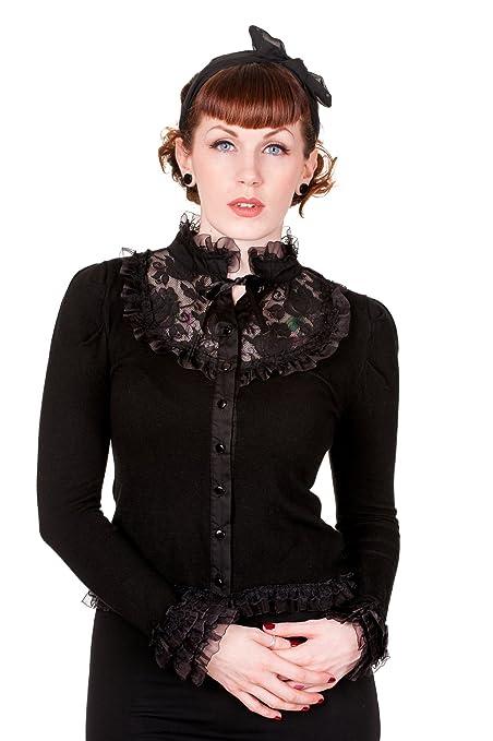 Steampunk Tops Black Lace Rose Cardigan $38.95 AT vintagedancer.com