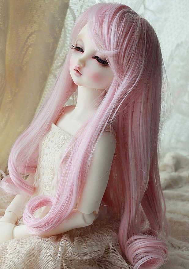 "1//3 bjd 8-9/"" 22-24cm head carrot red color short doll wig Soom ID Feeple dollfie"