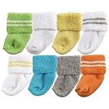 Luvable Friends Unisex Baby Socks, Yellow