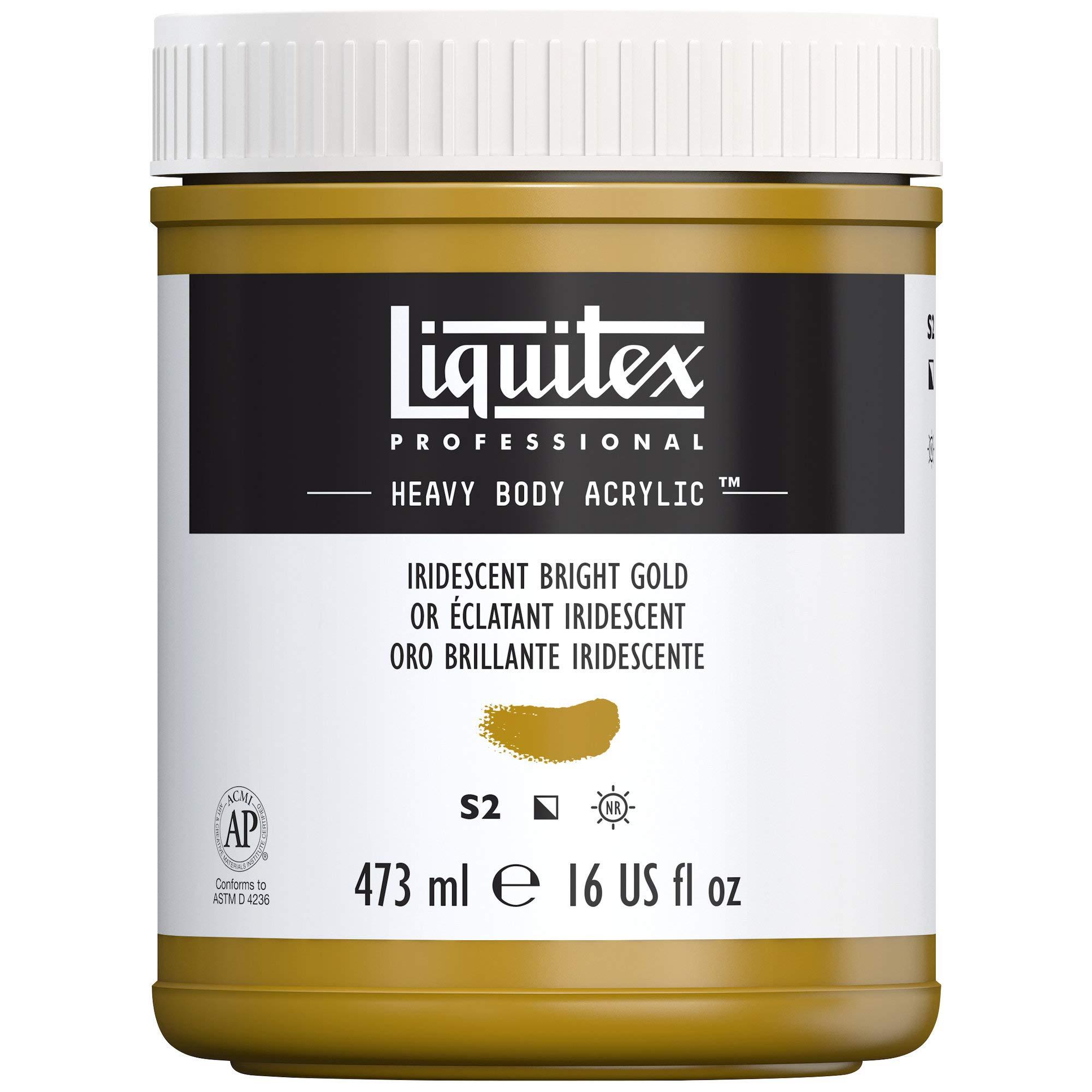 Liquitex Professional Heavy Body Acrylic Paint, 16-oz Jar, Iridescent Bright Gold by Liquitex