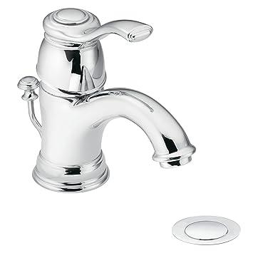 Moen 6102 Kingsley One Handle Low Arc Bathroom Faucet Chrome