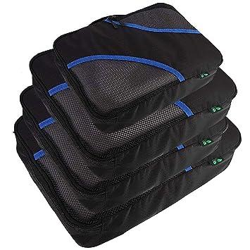 Embalaje Cubos Organizadores de Equipaje de Viaje F40C4TMP 4 PCS Organizadores de artículos de Aseo Almacenamiento para Bolsos Maleta Mochila Bolso Hombre ...