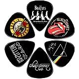Guitar Picks – Surmoler 6 Pack Universal Plastic Guitar Picks for Acoustic and Electric Guitar (My favorite band)