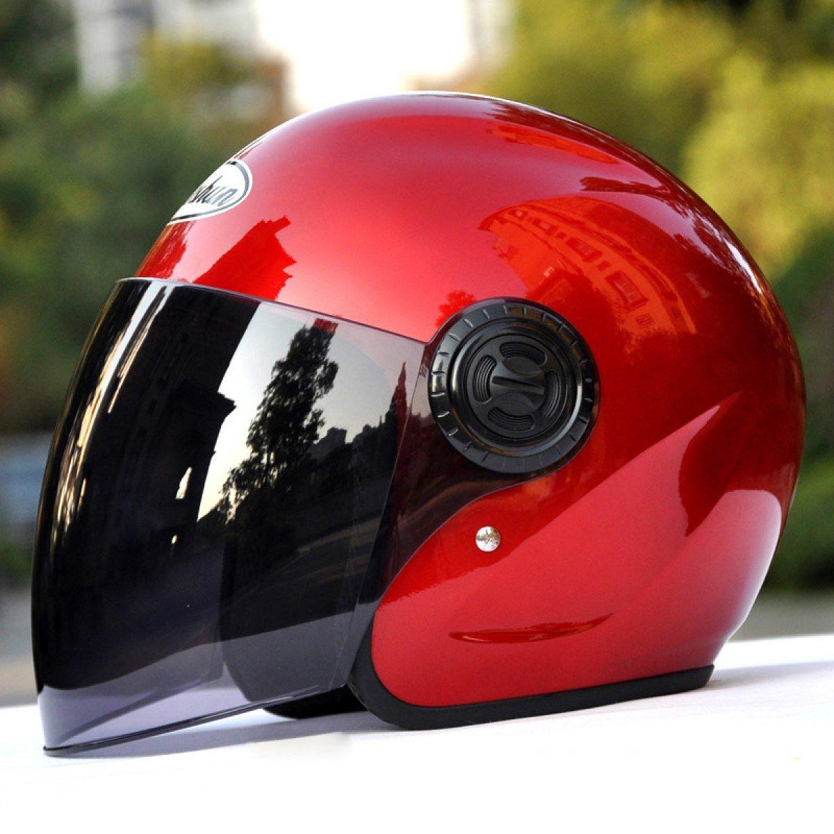 YIHANG @ Motorrad Helm M/änner Und Frauen Elektroauto Halber Helm Vier Jahreszeiten Halb Bedeckt Warm Helm