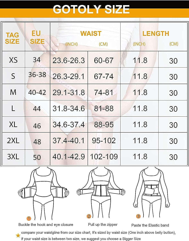 Gotoly Damen Bauchwegg/ürtel Fettverbrennung Taillenformer Sport Fitnessg/ürtel Schwitzg/ürtel Body Shaper Verstellbarer G/ürtel Gewichtheberg/ürtel Figurformer Mit Klettverschluss