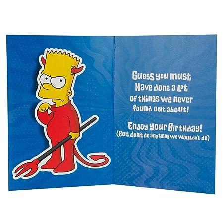 Exceptionnel Label M fils Humour Les Simpsons Motif carte d'anniversaire  HZ32