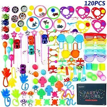 Surtido de 120 juguetes para llenar piñatas y juguetes para llenar bolsas de fiesta para fiestas de cumpleaños infantiles o para la escuela