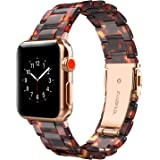 Wearlizer Compatible with Apple Watch Band 42mm 44mm Womens for iWatch SE Lightweight Resin Wristband Bracelet Mens Strap Ser