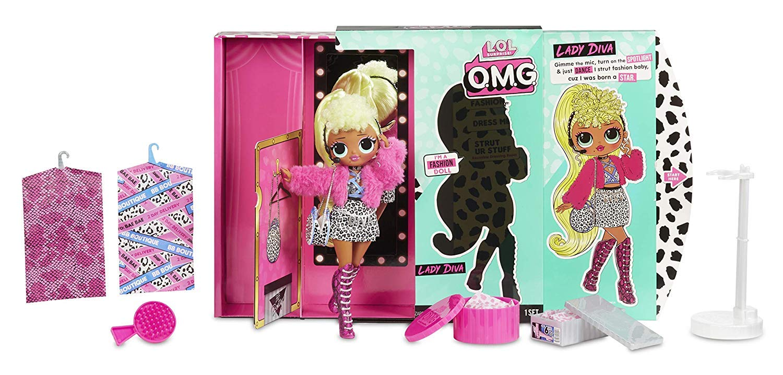 20 sorpresas 559788E7C Lady Diva Mu/ñeca Fashion L.O.L LOL Surprise O.M.G