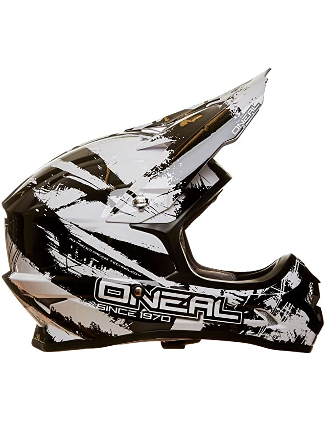 Amazon.com: Oneal Black-White 2017 3Series Shocker Mx Helmet (S , Black): Automotive