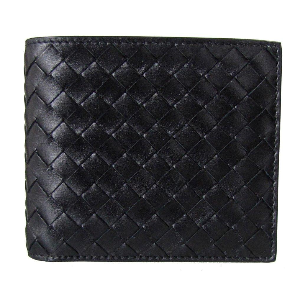 ボッテガ ヴェネタ 財布 BOTTEGA VENETA メンズ二つ折財布 ブラック 113993 V4651 1000 【並行輸入品】 B008KXDERA
