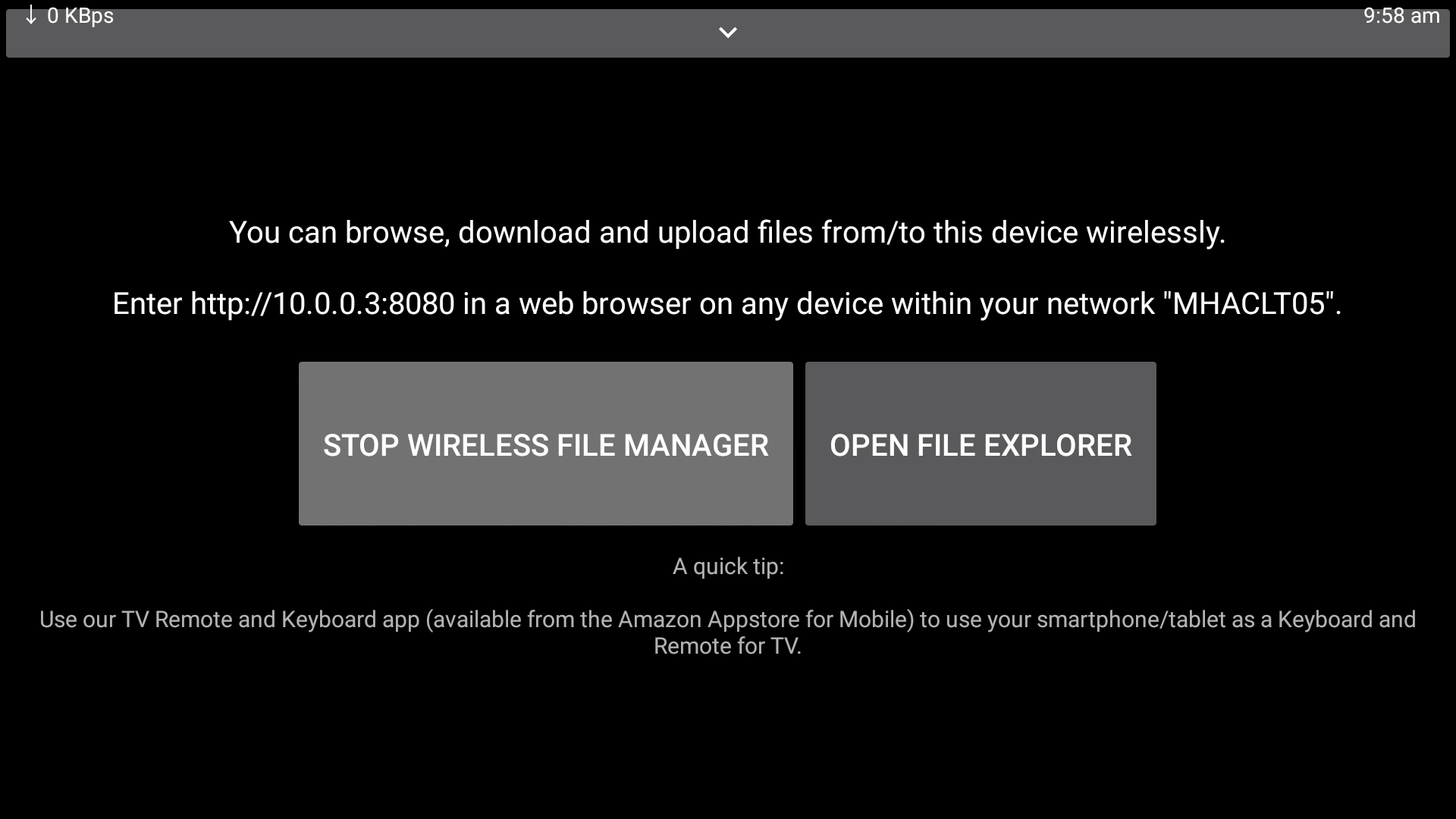 Wireless File Manager (Transfer Files from/to your TV) & File