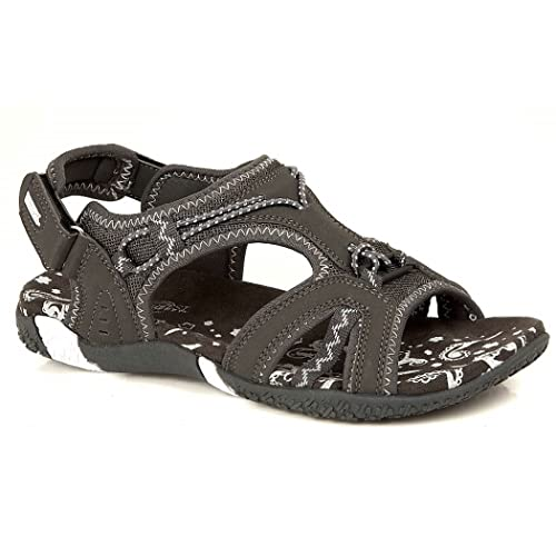 3e9085f8f4ebd Ladies Northwest Brown Adventure Walking Hook and Loop Sports Sandals Sizes  3 4 5 6 7