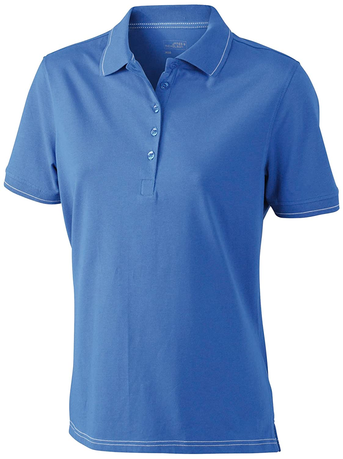 James & Nicholson Funktionspolo Elastic - Polo Mujer, Azul (royal/white), X-Large (Talla del fabricante: X-Large) JN568