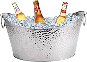 Large Ice Buckets, Stainless Steel Beverage Tub, For Business and Family Party