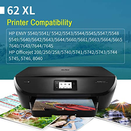 YWSS Cartucho de Tinta remanufacturado para HP 62XL Cartucho de ...