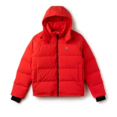 1099d1481429 Lacoste Men s Live Water-Resistant Short Taffeta Quilted Jacket at Amazon Men s  Clothing store