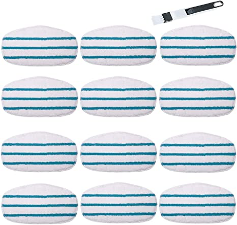 Pursteam Steam Mop Pads Premium Replacement Steam Mop Cleaning Pads for Pursteam Thermapro 10-in-1 Replacement Steam mop Pads,2 Pack
